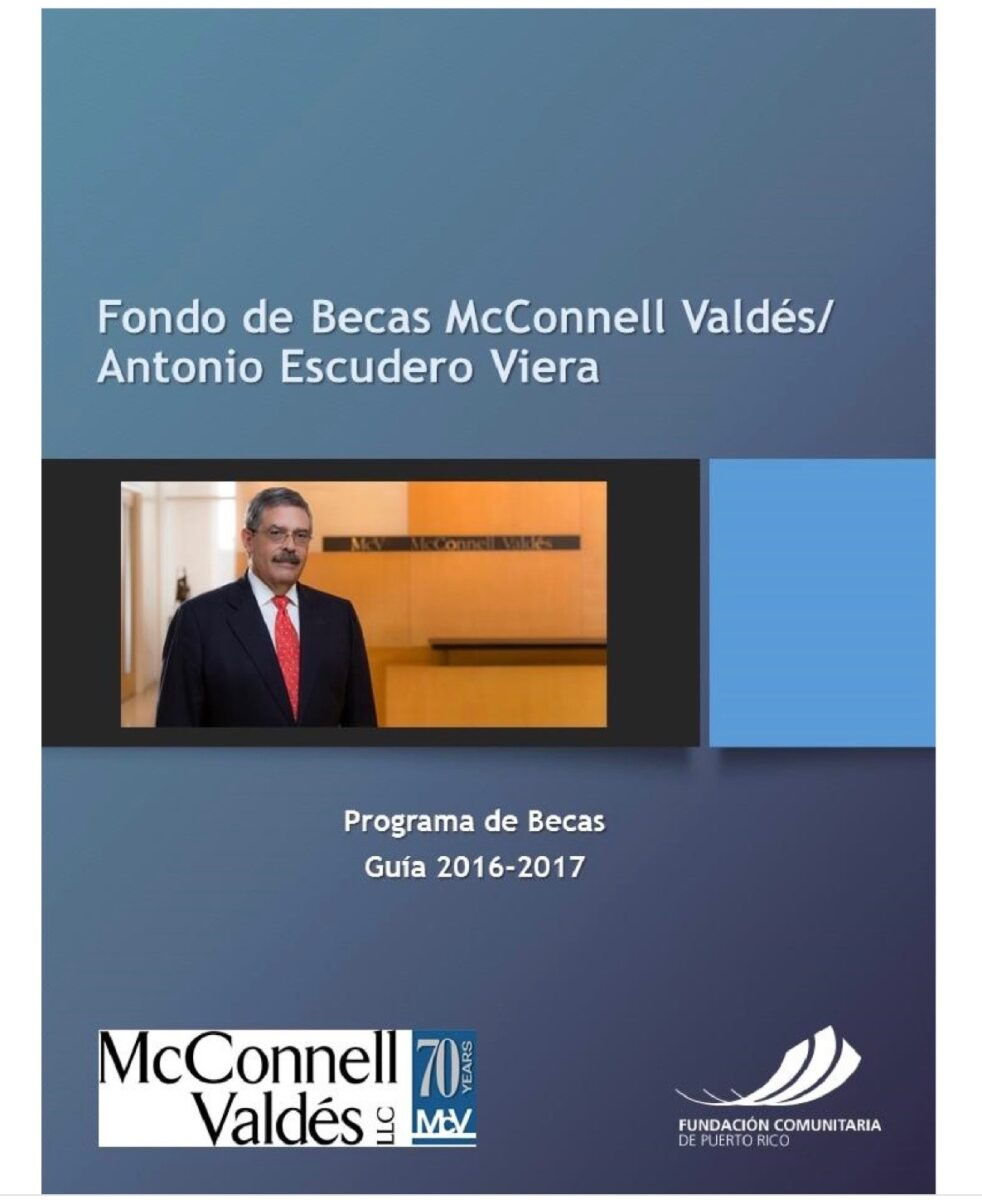 Fondo de becas mcconnell vald s antonio escudero viera fundaci n comunitaria - Becas de comedor 2017 ...